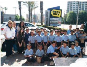 Orange County, California elementary students commemorate World Elder Abuse Awareness Day